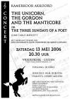 "2006: Poster ""The Unicorn..."" for chamber choir ""Akkord"""